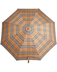 Burberry Vintage Check Folding Umbrella - Yellow