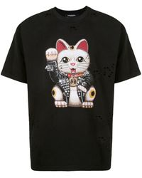 DOMREBEL Graphic Print T-shirt - Black