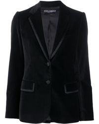 Dolce & Gabbana シルクトリム ジャケット - ブラック