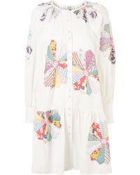 Sea フローラル シャツドレス - ホワイト