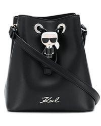 Karl Lagerfeld - K/ikonik バケットバッグ - Lyst