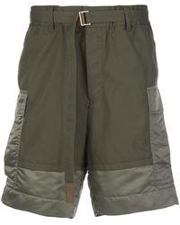 Sacai Cargo Shorts - Groen