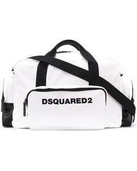 DSquared² ロゴ ボストンバッグ - ホワイト