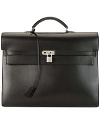 Hermès 2008 Pre-owned Kelly Depeche 38 Briefcase - Black