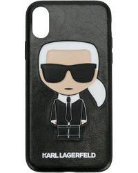 Karl Lagerfeld - Karl Ikonik Embossed Iphone 8 Case - Lyst