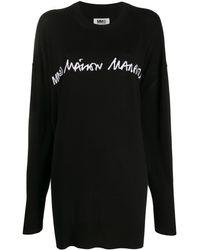 MM6 by Maison Martin Margiela ロゴ セーター - ブラック