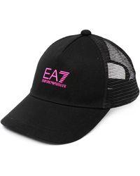 EA7 ロゴ キャップ - ブラック