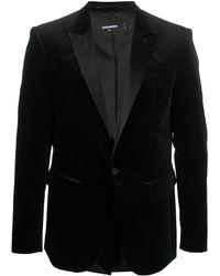 DSquared² ベルベット シングルジャケット - ブラック
