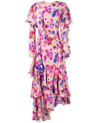Natasha Zinko - Asymmetric Floral Dress - Lyst