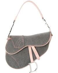Dior - デニム サドル ハンドバッグ - Lyst