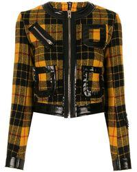 Yang Li Check Pattern Fitted Jacket - Yellow