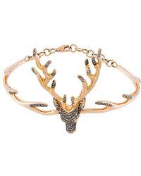 Christina Debs - Small Diamond Deer Bracelet - Lyst