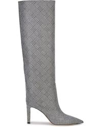 Jimmy Choo - Checked Knee-high Boots - Lyst