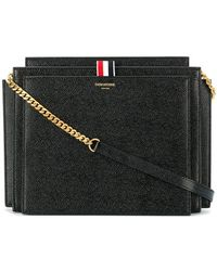 Thom Browne - Square Lucido Leather Accordion Bag - Lyst