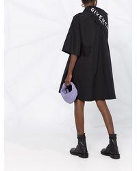 Givenchy Платье-рубашка С Логотипом И Шарфом - Черный
