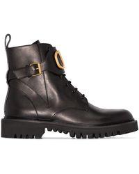 Valentino Ботинки Garavani С Логотипом Vlogo - Черный