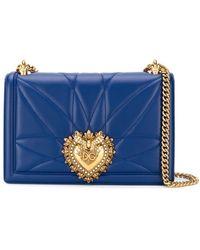 Dolce & Gabbana Devotion ショルダーバッグ M - ブルー