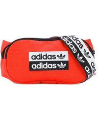 adidas ロゴ ベルトバッグ - オレンジ