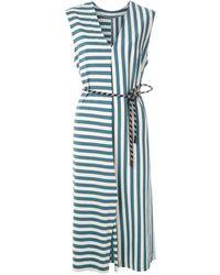 Osklen Summer Stripe ベルテッドドレス - ブルー