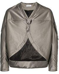 Kiko Kostadinov Cocoon Flight Jacket - Metallic