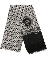Dolce & Gabbana Sjaal Met Monogram Print - Wit