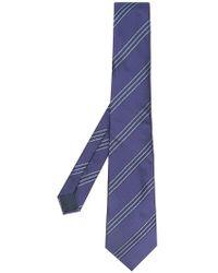 Lanvin - Diagonal Striped Tie - Lyst
