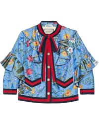 Gucci Multicolor Print Jacket - Blue