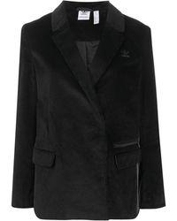 adidas コーデュロイ シングルジャケット - ブラック