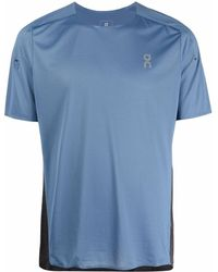 On Running T-shirt con stampa - Blu