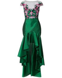 b6dd37d2e979d Marchesa notte - Embroidered Floral High Low Gown - Lyst