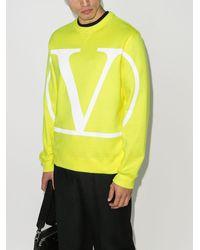 Valentino ロゴ スウェットシャツ - イエロー