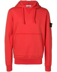 Stone Island - Detachable Logo Patch Hoodie - Lyst