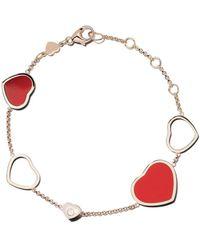Chopard 18k Rose Gold Happy Hearts Diamond Bracelet - Многоцветный