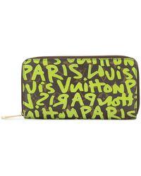 Louis Vuitton Pre-owned Limited Edition Stephen Sprouse Portemonnaie - Grün