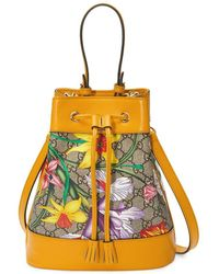 "Gucci 'Ophidia' Rucksack mit ""Flora""-Muster - Gelb"