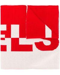 Belstaff Logo Knit Scarf - Red