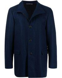 Canali ウール シングルコート - ブルー