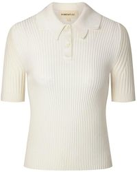 PORTSPURE リブニット ポロシャツ - ホワイト