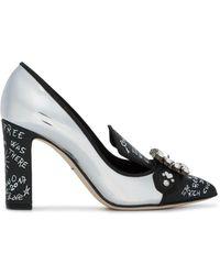 Dolce & Gabbana - Bellucci クリスタルバックル パンプス - Lyst