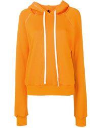 Unravel Project Cut-out Shoulder Hoodie - Orange