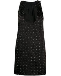 Saint Laurent - Платье С Заклепками - Lyst
