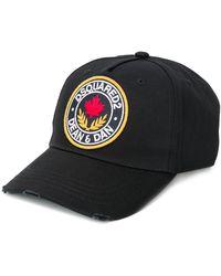 DSquared² Honkbalpet Met Logopatch - Zwart