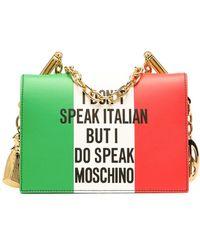 Moschino Сумка Italian Slogan - Красный