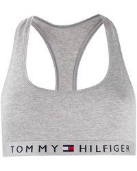 Tommy Hilfiger ロゴジャカードバンド ブラ - グレー