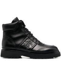 Roberto Cavalli Logo Plaque Boots - Black