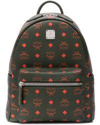 MCM - Logo Print Backpack - Lyst