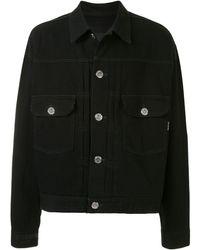 MASTERMIND WORLD オーバーサイズ デニムジャケット - ブラック
