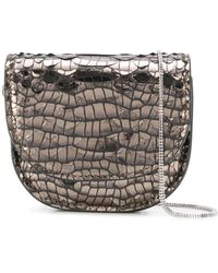 Brunello Cucinelli Мини-сумка С Тиснением Под Кожу Крокодила - Коричневый