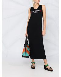Love Moschino ロゴ ノースリーブドレス - ブラック