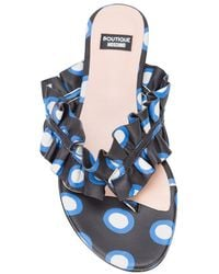 Boutique Moschino - Polka Dot Ruffled Thong Sandals - Lyst
